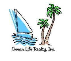 Ocean Life Realty Logo and Homepage